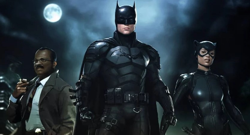 Robert Pattinson Batman Zoe Kravitz fan art