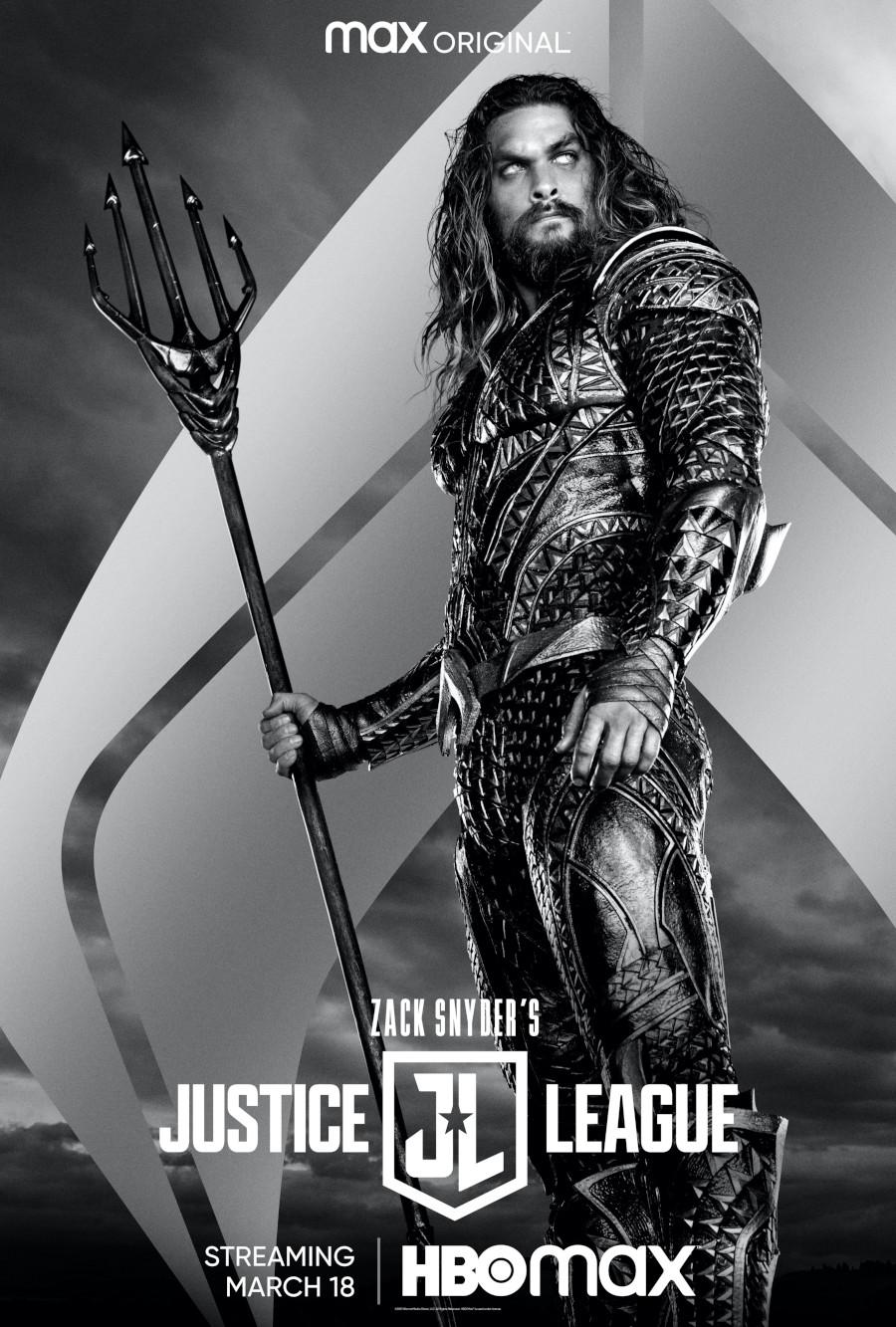 Jason Momoa Aquaman Poster Zack Snyder's Justice League