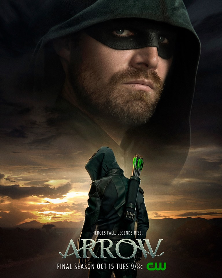 Arrow final season poster stephen amell