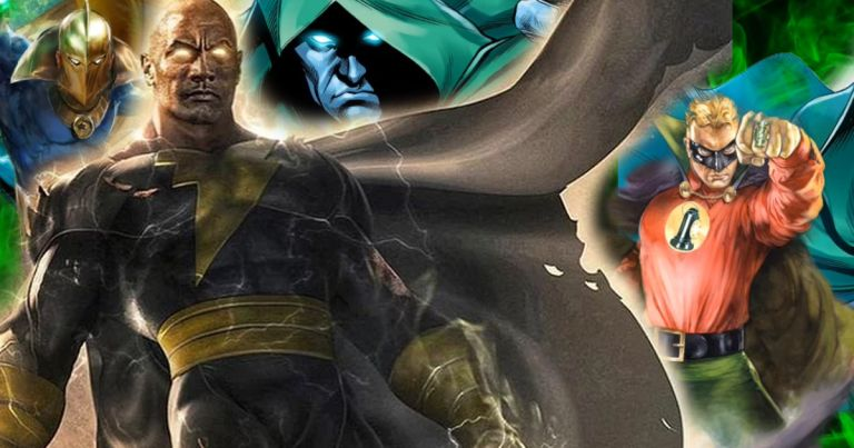Black Adam Dwayne Johnson Green Lantern The Flash JSA