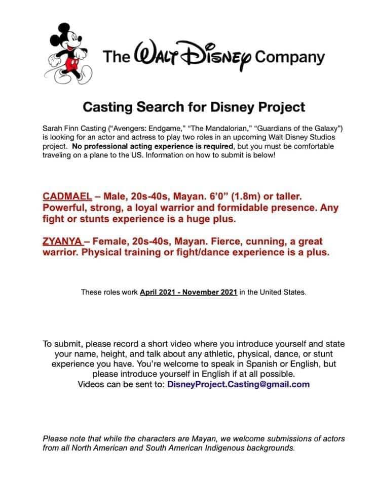 Black Panther 2 Mayans casting call