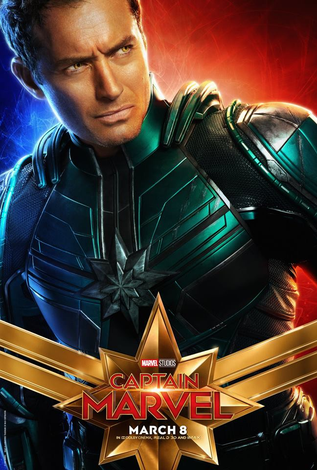Captain Marvel Character Posters Released | Cosmic Book News