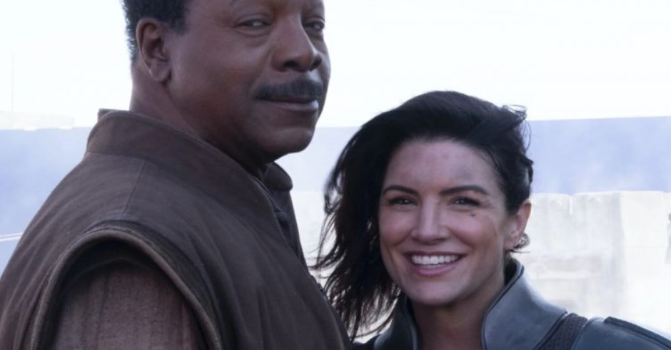 Carl Weathers and Gina Carano Star Wars The Mandalorian