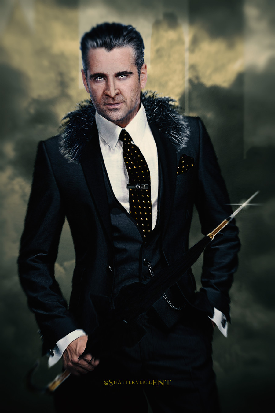 Colin Farrell Penguin Fan art Batman