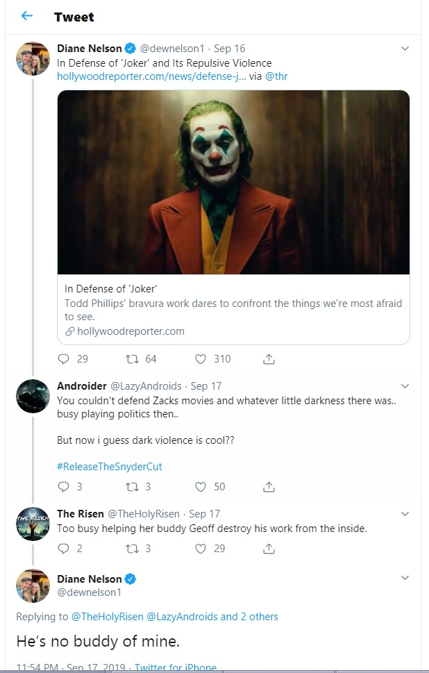 Diane Nelson Geoff Johns tweet