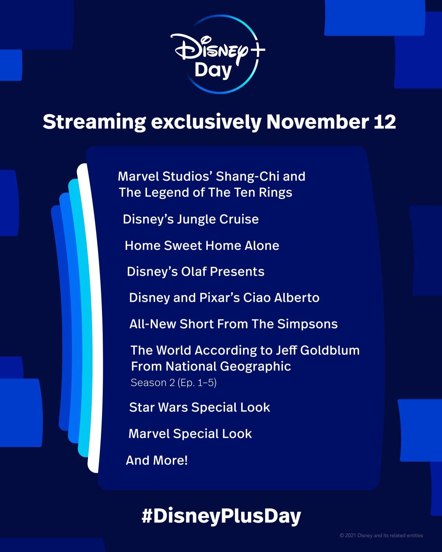 Disney Plus Day Shang-Chi Marvel Star Wars