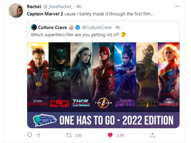Captain Marvel 2 fans want to get rid of