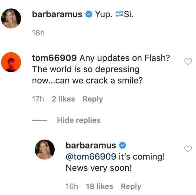 The Flash movie news Barbara Muschietti