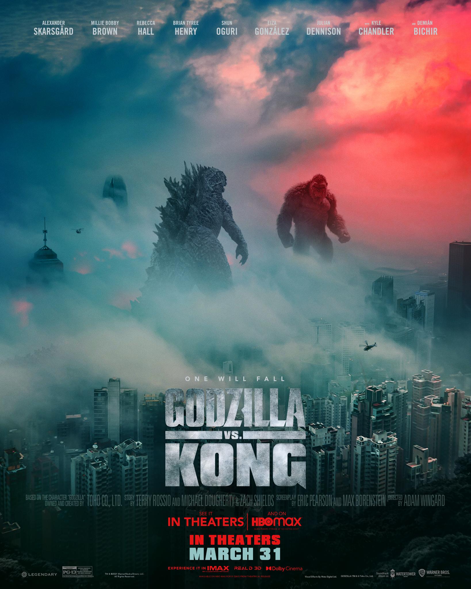 Godzilla vs Kong Poster One Will Fall