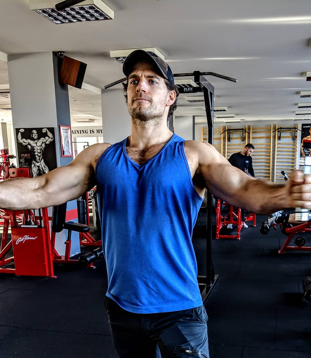 Henry Cavill training