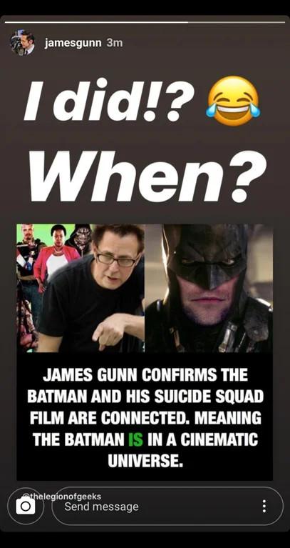 James Gunn Suicide Squad Batman