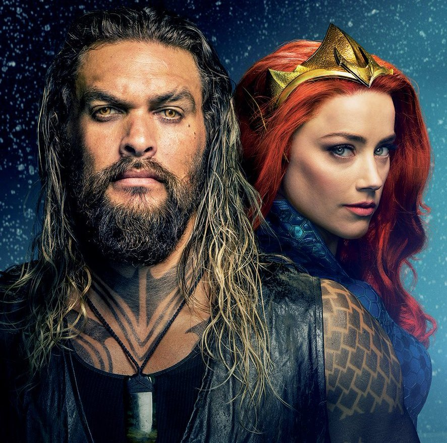 New Jason Momoa And Amber Heard Aquaman Image