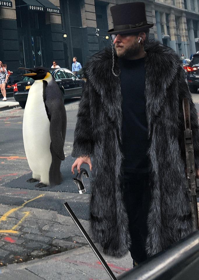 Jonah Hill Penguin Batman fan art
