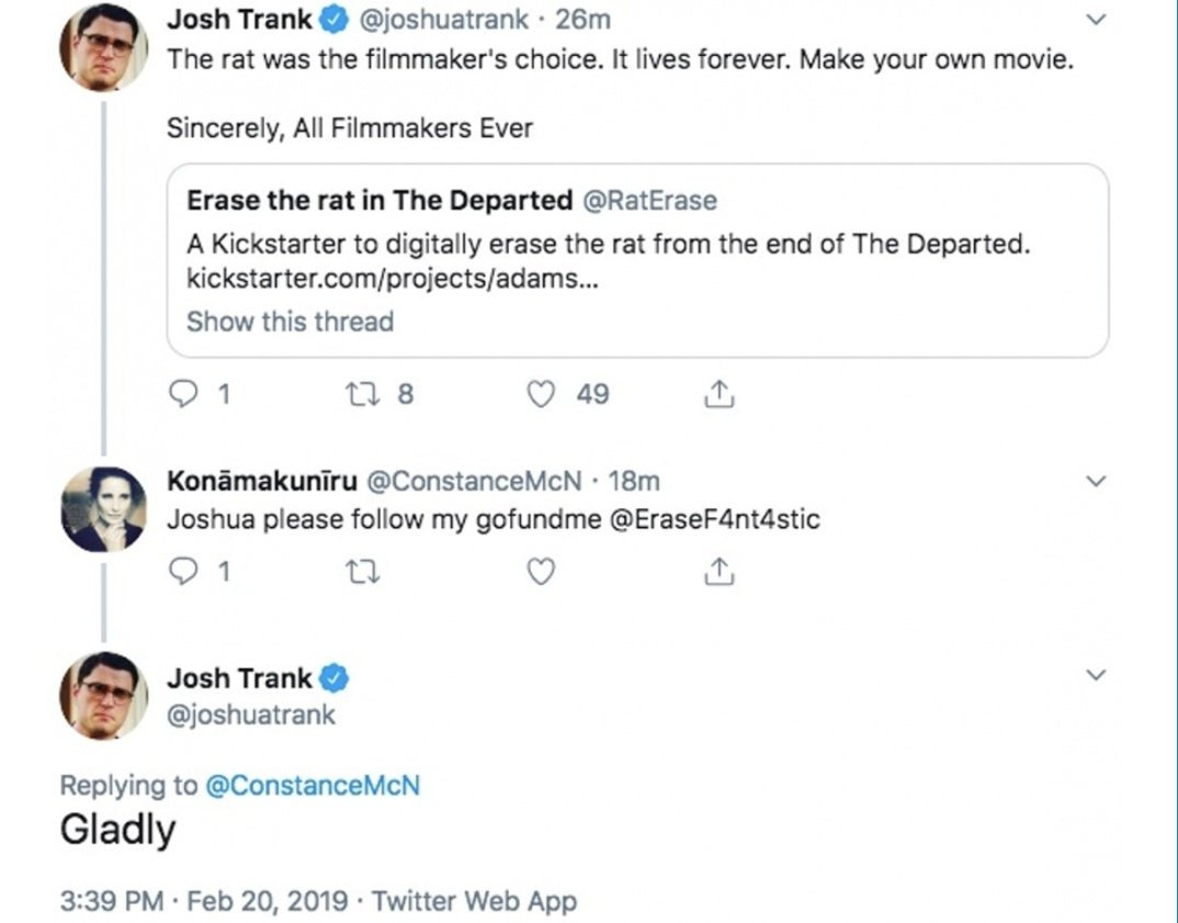 Josh Trank Fantastic Four Tweet