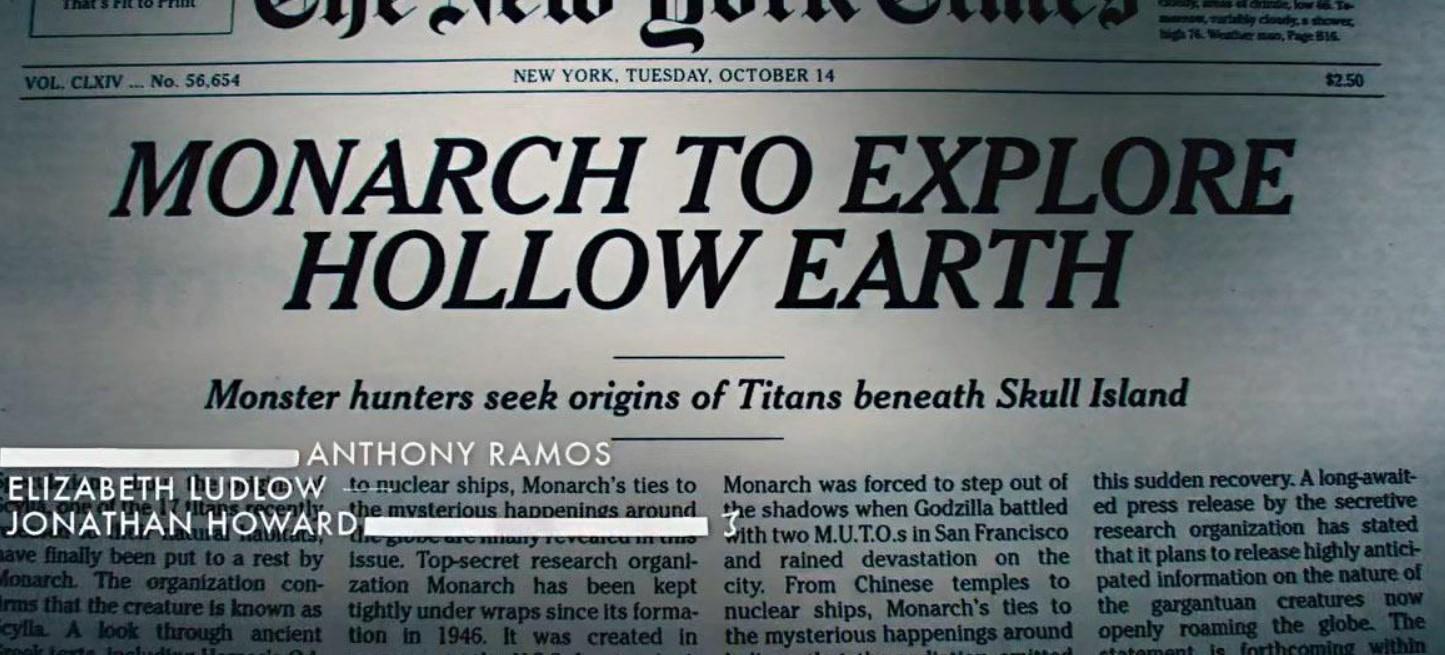 Godzilla vs Kong Monarch Hallow Earth