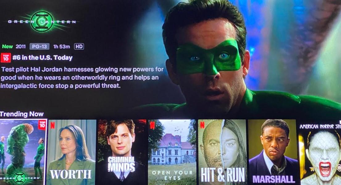 Netflix Ryan Reynolds Green Lantern