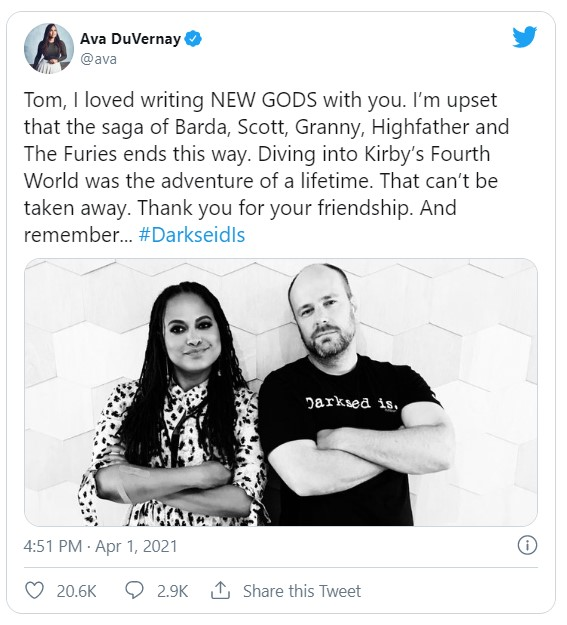 Ava DuVernay New Gods canceled