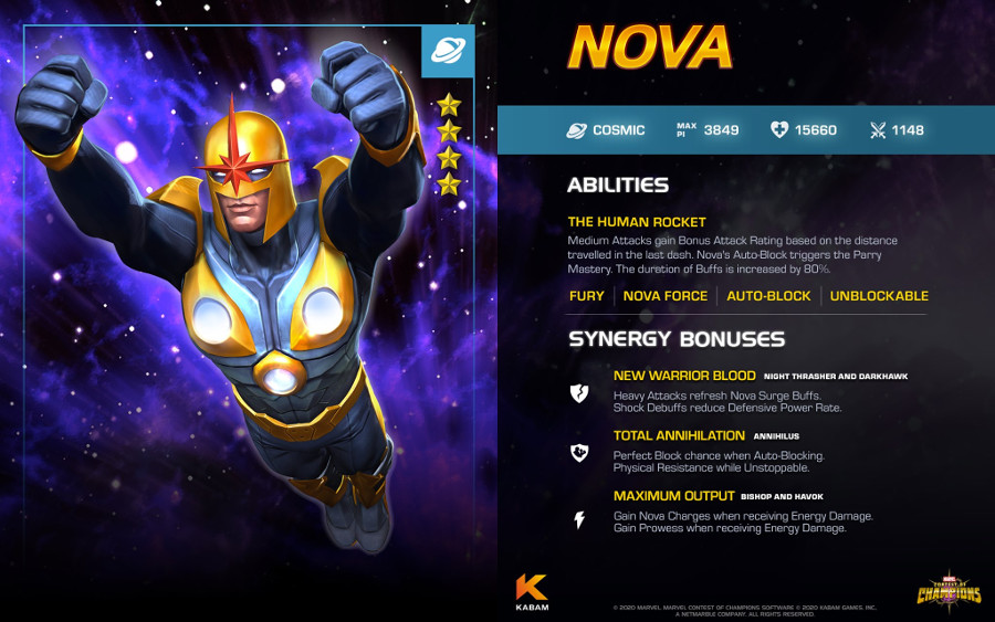 Nova Marvel Contest of Champions