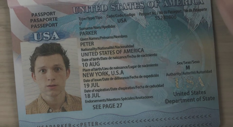 Spider-Man Far From Home passport