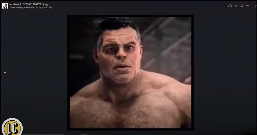 Avengers Endgame Smart Hulk white dude