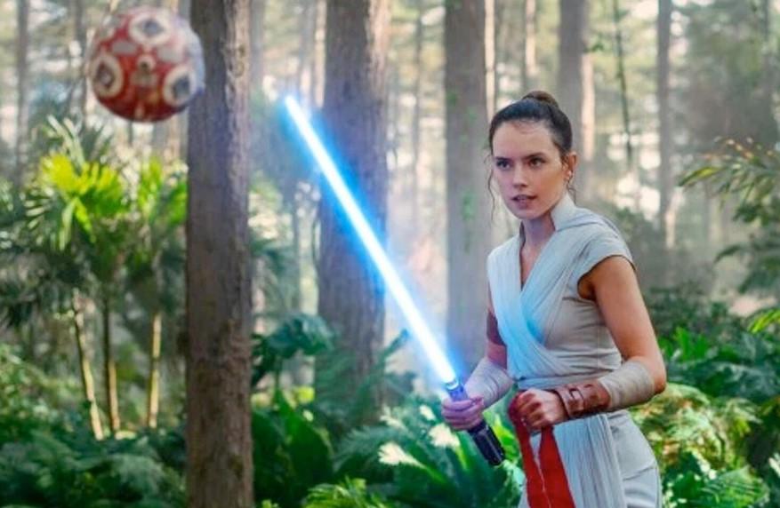 Rey training Rise of Skywalker