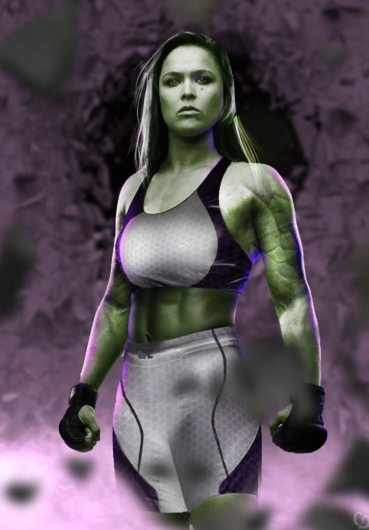Ronda Rousey She-Hulk fan art