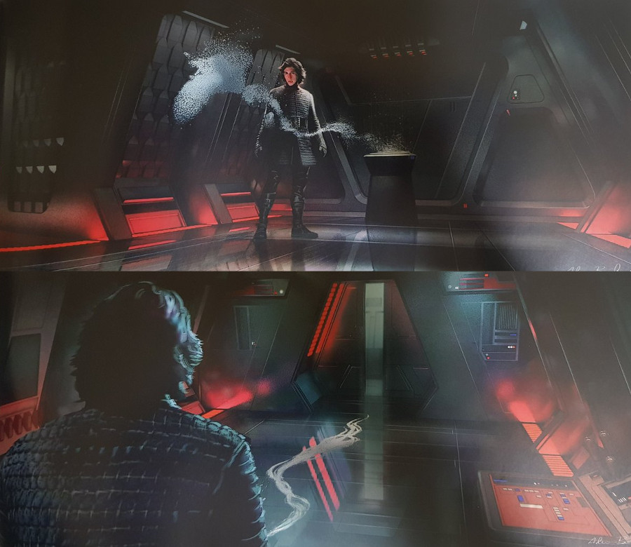 Star Wars Rise of The Skywalker concept art Kylo Ren and Darth Vader ashes