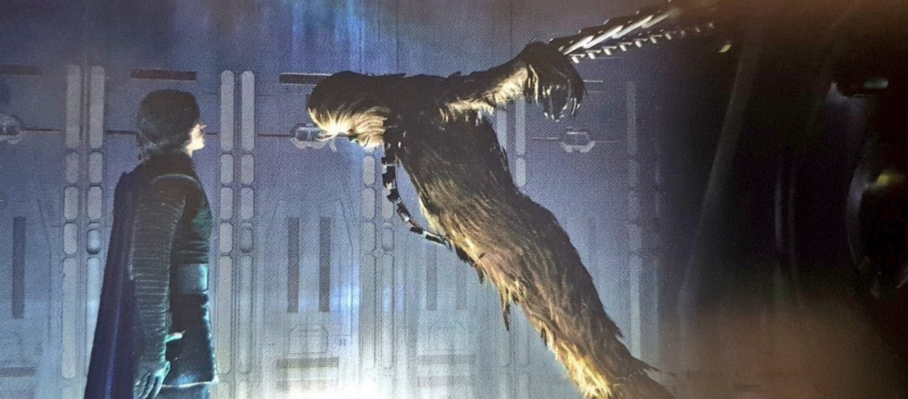 Star Wars Rise of The Skywalker concept art Kylo Ren and Chewbacca