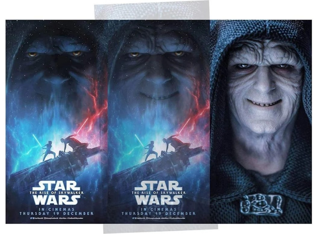 Star Wars: The Rise of Skywalker Poster Rips Off Hot Toys Palpatine