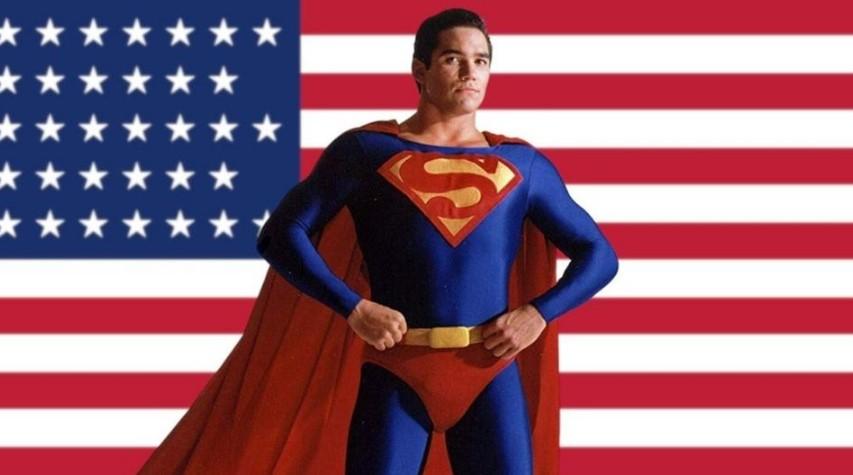 Superman Dean Cain American Flag