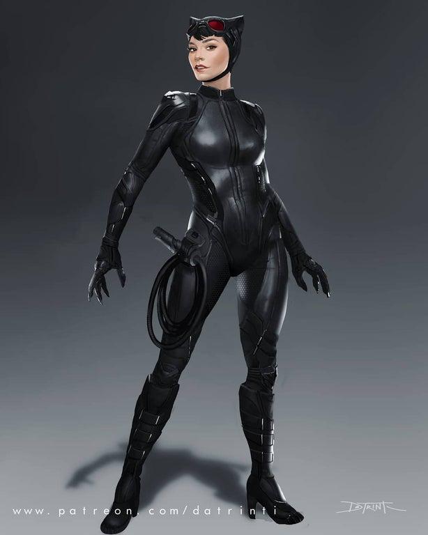 Vanessa Hudgens Catwoman fan art Batman