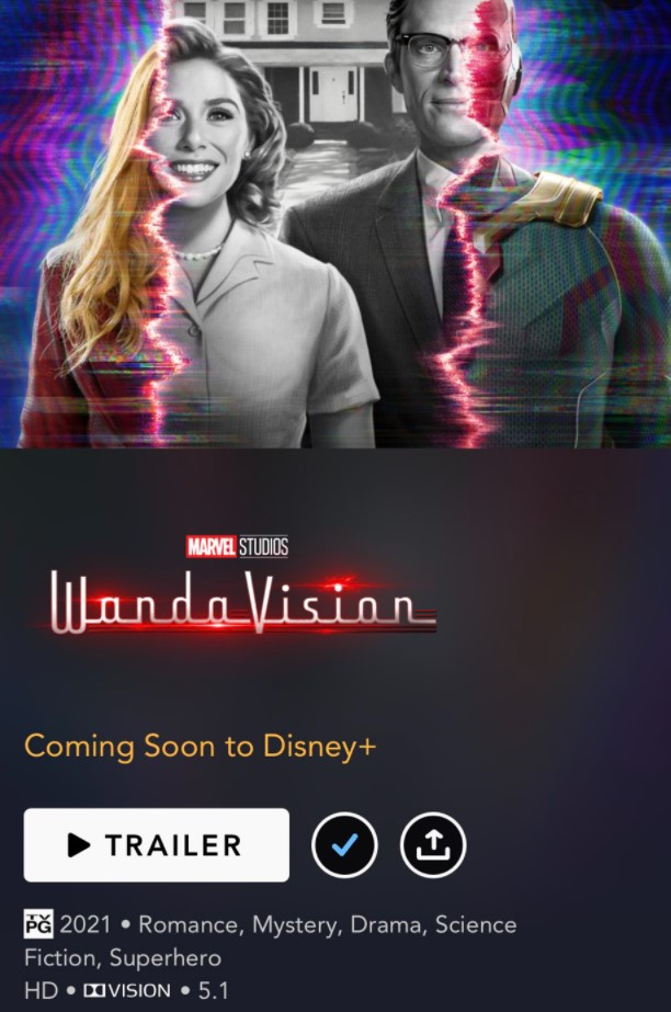 WandaVision PG rating Disney Plus