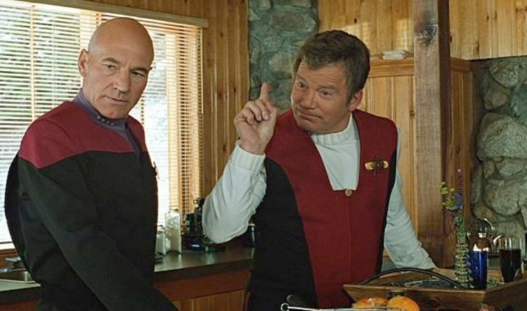 William Shatner Patrick Stewart Star Trek