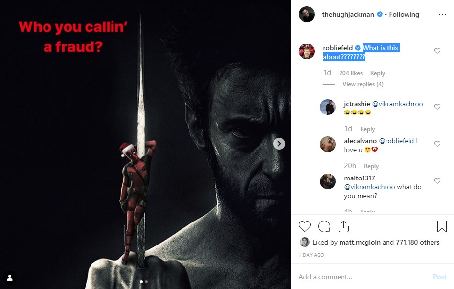 Wolverine Deadpool Hugh Jackman Ryan Reynolds