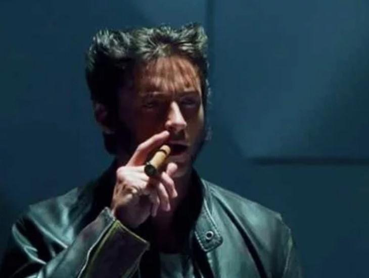 Wolverine smoking
