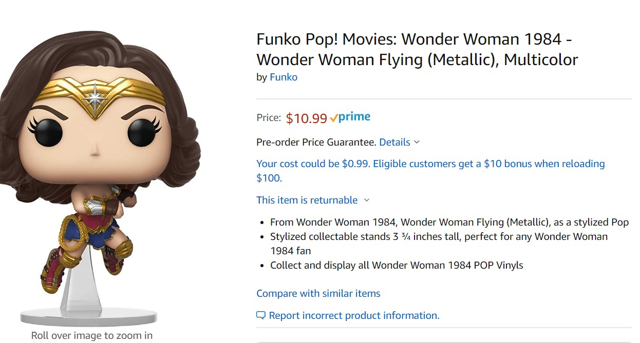 Wonder Woman 1984 flies