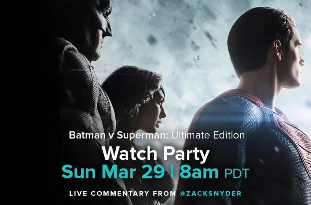 Zack Snyder Batman vs Superman Watch party