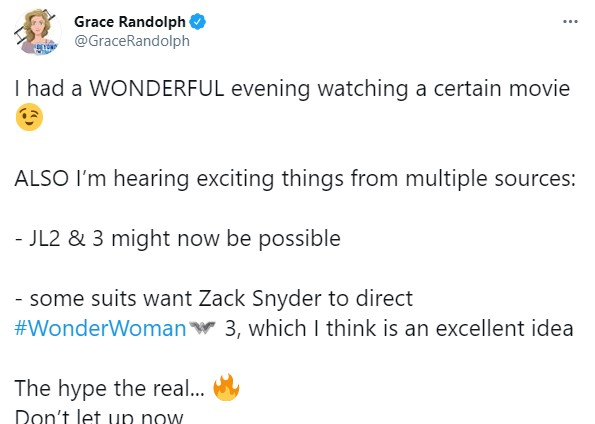 Zack Snyder Wonder Woman 3