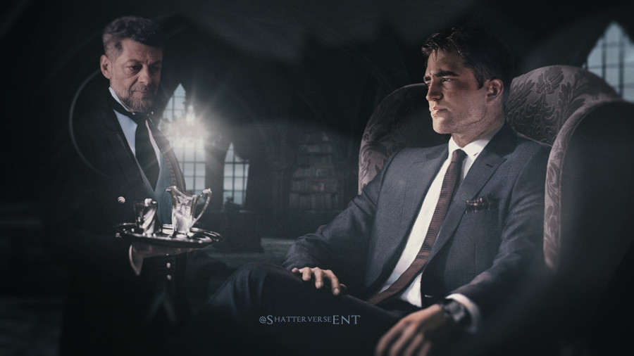 Batman Robert Pattinson Andy Serkis Alfred fan art