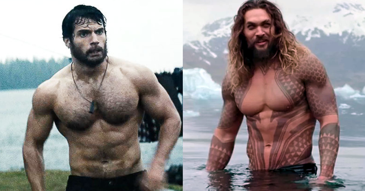 Henry Cavill Superman Jason Momoa Aquaman