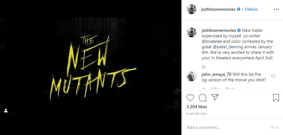 New Mutants movie