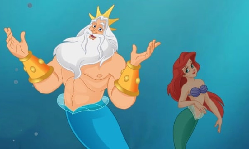 King Triton The Little Mermaid