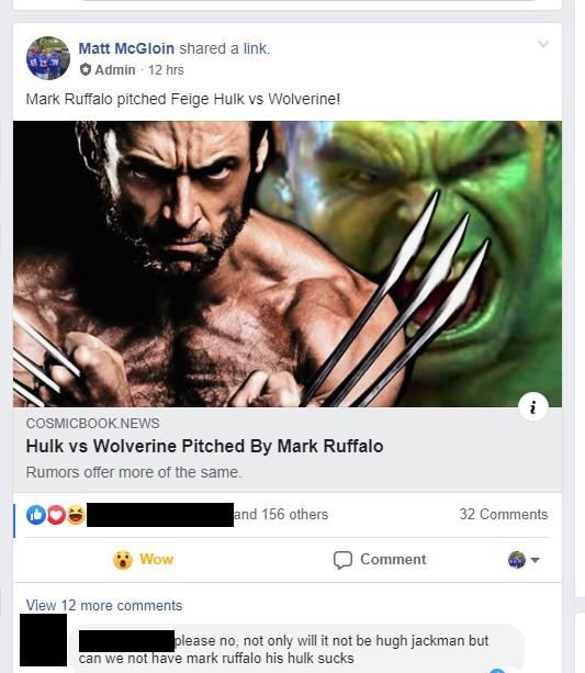 Mark Ruffalo Hulk sucks