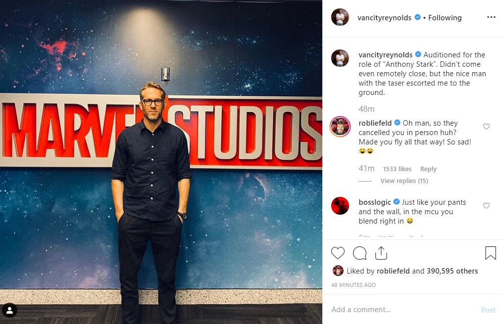 Marvel Studios Ryan Reynolds