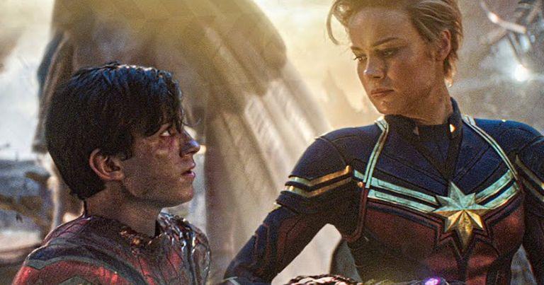 Tom Holland Spider-Man Brie Larson Captain Marvel Avengers Endgame