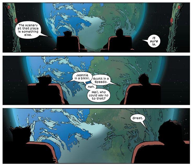 Wolverine gay Cyclops speedo Marvel