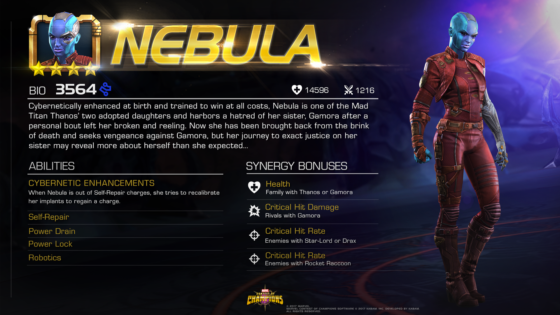 Nebula Joins Marvel Contest Of Champions | Cosmic Book News