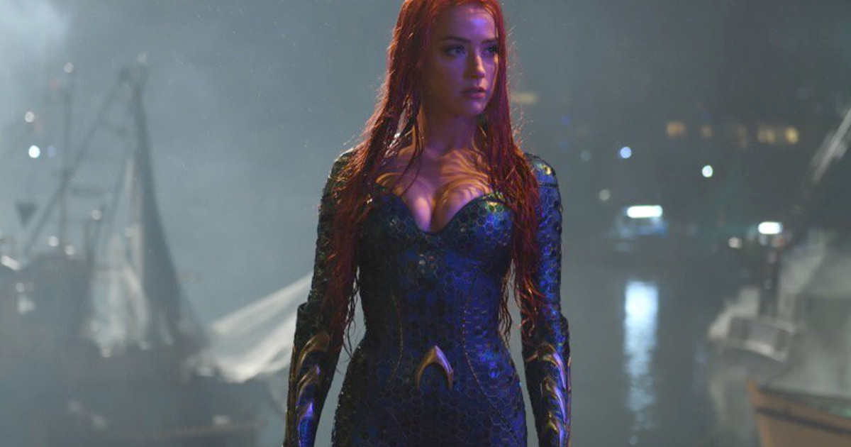 Amber Heard Shares Picture From Aquaman Set