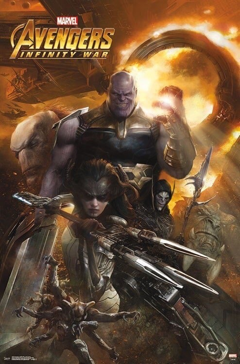 The Avengers: Infinity War Thanos and Black Order