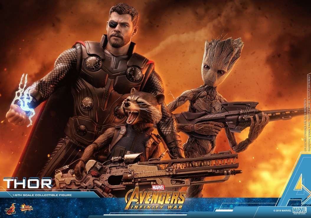 avengers infinity war hot toys thor teen groot and